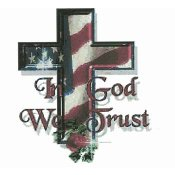 Cody Country Cross Stitch - In God We Trust THUMBNAIL