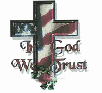 Cody Country Cross Stitch - In God We Trust MAIN