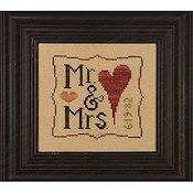 Heart In Hand Needleart - Mr. & Mrs.