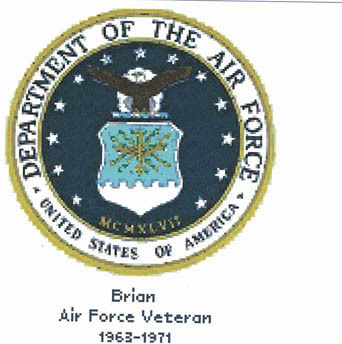 Cody Country Cross Stitch - Air Force Seal