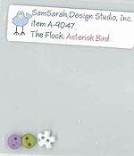 SamSarah Design Studio - The Flock - Asterisk Bird Embellishment Pack THUMBNAIL
