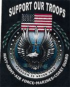 Cody Country Cross Stitch - Support Our Troops