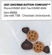 Jabco Button Pack - The Stitching Bear Chocolate Understands THUMBNAIL