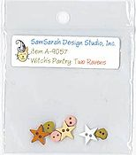SamSarah Design Studio - Witch's Pantry - Two Ravens Embellishment Pack