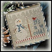 Little House Needleworks - 2012 Ornament #8 - It's Snow Cold THUMBNAIL