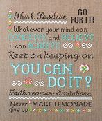 Glitter Gulch Needlework - Think Positive!