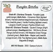 Jeannette Douglas Designs - Pumpkin Stitches Embellishment Pack