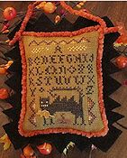 Homespun Elegance - A Halloween Year II - September - Wicked Cat Sampler