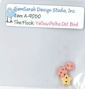 SamSarah Design Studio - The Flock - Yellow Polka Dot Bird Embellishment Pack THUMBNAIL