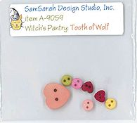 SamSarah Design Studio - Witch's Pantry - Tooth of Wolf Embellishment Pack