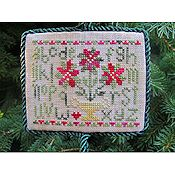 From The Heart - Poinsettia Sampler Ornament THUMBNAIL