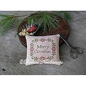Beehive Needleworks - Christmas Wreath Pin Pillow