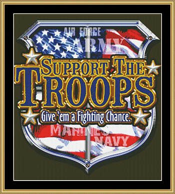 Mystic Stitch - Support The Troops THUMBNAIL
