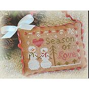 Little House Needleworks - 2012 Ornament #11 -  Season of Love THUMBNAIL