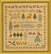 Elizabeth's Designs - Antique Evergreen Sampler THUMBNAIL
