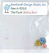 SamSarah Design Studio - The Flock - Button Bird Embellishment Pack