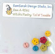 SamSarah Design Studio - Witch's Pantry - Toil & Trouble Embellishment Pack