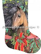 Heaven and Earth Designs - Stocking Merry Morgan THUMBNAIL