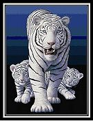 Cody Country Cross Stitch - White Tigers