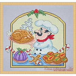 Cross Stitching Art - Christmas Chef MAIN