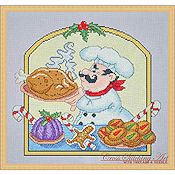 Cross Stitching Art - Christmas Chef