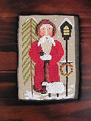 By The Bay Needleart - Santa Tending The Sheep THUMBNAIL