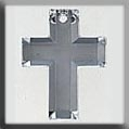12054 Glass Treasures-Cross 26/16mm Crystal Foiled (Qty. 1) - Discontinued Sub w/ 12053 THUMBNAIL
