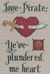 Sue Hillis Designs - Post Stitches - Love Pirate