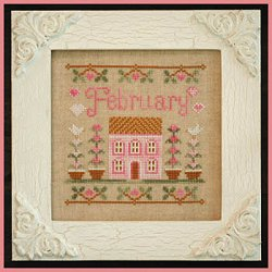 Country Cottage Needleworks - Cottage of the Month - February Cottage THUMBNAIL