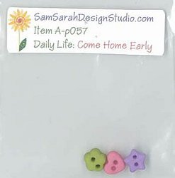 SamSarah Design Studio - Daily Life:  Come Home Early! Embellishment Pack THUMBNAIL