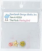 SamSarah Design Studio - The Flock - Paisley Bird Embellishment Pack
