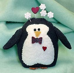 Just Another Button Company - Peter Penguin Pincushion MAIN