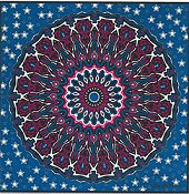 Cody Country Cross Stitch - Patriotic Mandala