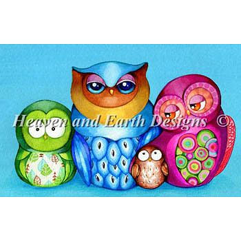 Heaven and Earth Designs - Owl Family Portrait MAIN
