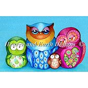 Heaven and Earth Designs - Owl Family Portrait THUMBNAIL