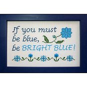 Glitter Gulch Needlework - Be Bright Blue