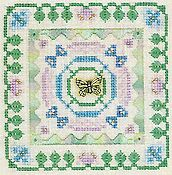Elizabeth's Designs - Little Leaf Designs - Butterfly Square