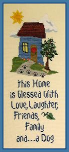 The Stitchworks - Home Blessings - Dog MAIN
