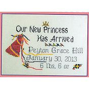The Stitchworks - Princess Birth Sampler