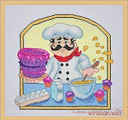 Cross Stitching Art - Baker Chef