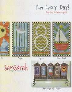 SamSarah Design Studio - Fun Every Day!  Perpetual Calendar - August MAIN