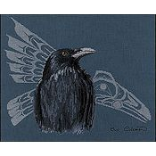 The Stitching Studio - Native Raven