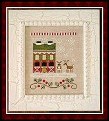 Country Cottage Needleworks - Santa's Village - Reindeer Stables THUMBNAIL