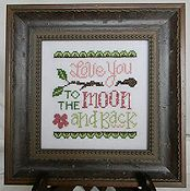 Cherry Hill Stitchery - Love You To The Moon