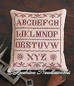 Beehive Needleworks - Ruby Pemberton Sampler Pillow THUMBNAIL