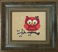 Cherry Hill Stitchery - Red Holiday Owl