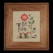 Heart In Hand Needleart - Be Kind