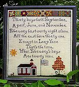 Lindsay Lane Designs - Thirty Days Hath September