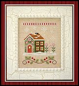 Country Cottage Needleworks - Santa's Village - Candy Cane Cottage THUMBNAIL