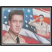 Cody Country Cross Stitch - Elvis Patriot